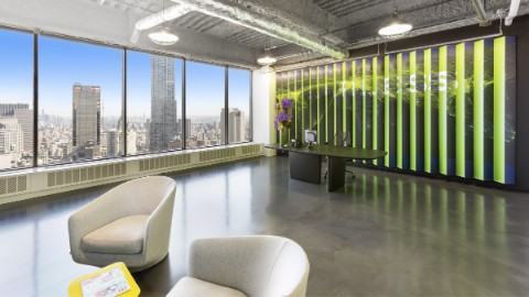Image 1: Modern office space at 140 Broadway, New York.