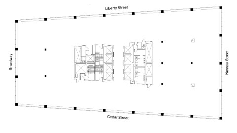 Graphic: Floor plan of 49th floor